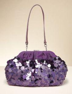 KAGADATO selection. The best in the world. Fashion. **************************************purple glitter clutch