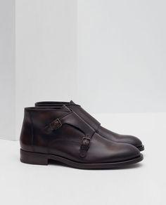 23ff8fa7fc97 LEATHER MONKSTRAP BOOTS  Mens Shoes Sale