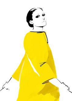 judith van den hoek fashion illustrations