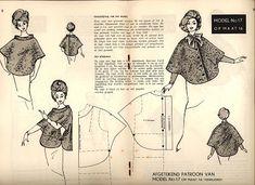 Выкройки кейпа, накидки и пальто , 1962/1963 год . Моделирование