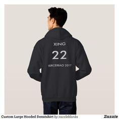 Moletom com Capuz Grande Personalizado | Zazzle