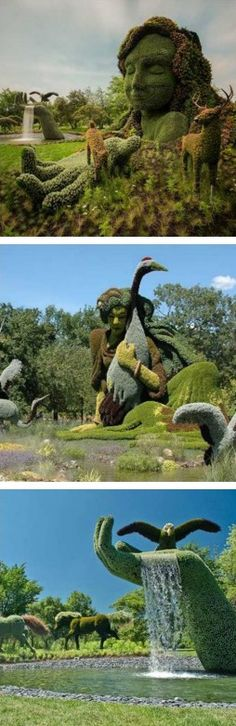 The Montreal Botanical Garden's sculptures are insane!
