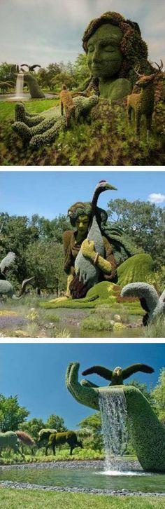 The Montreal Botanical Garden's sculptures are insane!