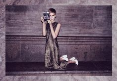 Vintage Clothes Rag And Bone Man, Berlin. Photograph/Styling: Alexander Sebastian Trah. Model: Sophia Exss. Makeup: Wie Liu.
