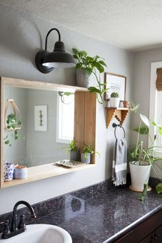 These mirror ideas will surely be useful in making your bathroom look remarkable. Keep reading! mirror Bathroom Mirror Ideas - On Budget, Minimalist, and Modern Minimalist Bathroom Mirrors, Bathroom Mirror Design, Bathroom Mirror Cabinet, Bathroom Interior Design, Modern Bathroom, Bathroom Ideas, White Bathroom, Bathroom Storage, Bathroom Canvas