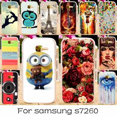 Mobile Phone Cases for Samsung Galaxy Star Plus Pro Case S7262 S7260 Covers GT-S7262 i679 4.0inch DIY Plastic Back Cover Housing