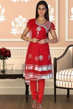 Venetian Red Net Embroidered Party and Festival Anarkali Kameez Sku Code:331-2567SL732267 $ 58.00