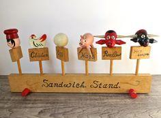 Retro wooden kitchen sandwich markers