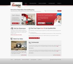 Home Page Redesign For Busy Improvement Site Website Design 10 By Malinic78 Web