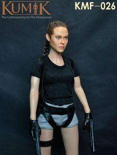 155.40$  Watch here - http://alip62.worldwells.pw/go.php?t=32702315534 - kumik KMF026 1:6 Tomb Raider Angelina Jolie 12inch Beautiful female doll ,  set of End product
