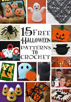 15 Free Halloween Patterns to Crochet