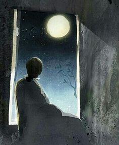 ماه بالا سر تنهایی ست...!؟