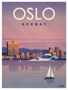 Oslo Poster by IdeaStorm Studios. Available now at ideastorm.bigcart… Oslo Poster by IdeaStorm Studios. Available now at ideastorm. Oslo, Venice Travel, Rome Travel, Spain Travel, Plakat Design, Tourism Poster, Travel Illustration, Lofoten, Vintage Travel Posters