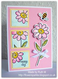Not stampin up...Hero Arts Garden Flowers