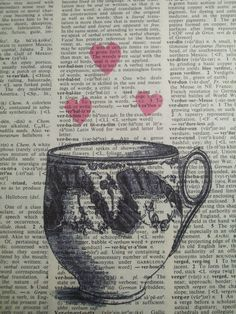 Tea Lover Vintage Book Page Print by ThePaperSnail on Etsy, $6.00