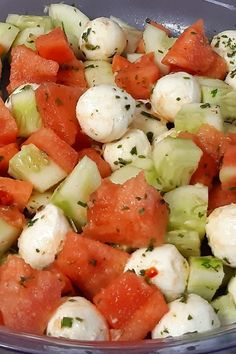 Mozzarella, Twisted Recipes, Caprese Salad, Food Videos, Grilling, Mango, Brunch, Food And Drink, Easy Meals