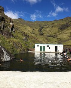 This place was amazing.  A hidden gem. #seljavallalaug #iceland #hotsprings…