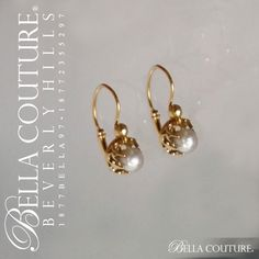 BELLA COUTURE ® - SOLD! - (ANTIQUE) RARE Gorgeous French 18K / 18CT Yellow Gold Natural White Pearl Dainty Fleur De Lis Dangle Drop Earrings - One of a Kind - Fine Jewelry Jewellery, $295.00 (http://www.bellacouture.com/sold-antique-rare-gorgeous-french-18k-18ct-yellow-gold-natural-white-pearl-dainty-fleur-de-lis-dangle-drop-earrings-one-of-a-kind-fine-jewelry-jewellery/)