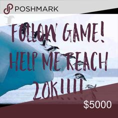 🎉🎉 FOLLOW GAME!! Help me reach 20k! 🎉😞 Follow GAME! 1️⃣ Like this post 2️⃣ follow everyone else who has liked it 3️⃣ share with your followers. Easy peasy!!! Make sure you come back and follow everyone who's like it! Other