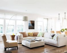 A contemporary living room