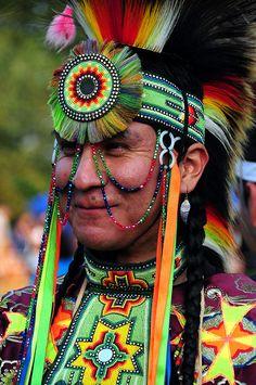 Native American dancer    Thunderbird Native American Pow Wow 2009, Queens County Farm Museum,  NY