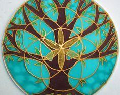 Mandala Mandala árbol de la vida, don espiritual, árbol de la vida arte, arte de mandala, espiritual arte, meditación, geometría sagrada, semillas de la vida,