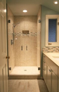 Glass Shower Enclosures Frameless Is A Headrail