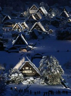 Japanese traditional wooden houses – Gassho zukuri