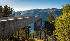 The Stegastein viewpoint, Aurlandsvegen, Norway, by Tommie Wilhelmsen and Todd Saunders. Part of Norway's National Tourist Routes. Norway Travel, Arctic Circle, The Guardian, Trip Planning, Places To Go, Cool Designs, Road Trip, Beautiful Pictures, Scenery