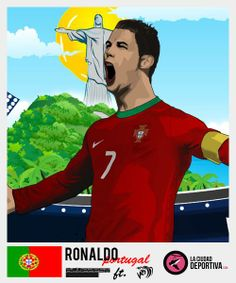 Cristiano Ronaldo http://www.akyanyme.com/index.php/es/portafolio/fanart/stickers-brazil-2014/264-sticker-brazil-2014-v18 » 378 awesome cards » #StickersProject #Brasil2014 #WorldCup