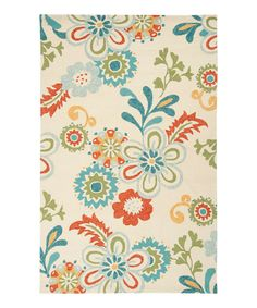 Another great find on #zulily! Vanilla & Turquoise Storm Rug by Surya #zulilyfinds