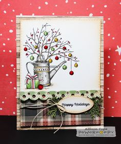 Simple Joys stamp set by Power Poppy, card design by Allison Cope.