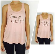 """love you a Latte"" Racer Back Tank ☕️Seriously So Cute! ☺️ And Super Soft! Relaxed Fit for your Comfort! 100% Rayon! ****Available in sizes S M L  **PLEASE DO NOT PURCHASE THIS LISTING*** MESSAGE BELOW WITH YOUR SIZE AND I WILL MAKE A PERSONAL LISTING FOR YOU ASAP!!❤️ If you have any questions, please feel free to ask  #PoshOnLadies! Bohemian Sea Tops Tank Tops"
