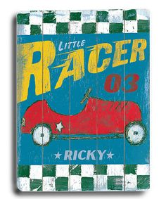 ArteHouse 'Little Racer' Personalized Wall Art