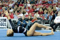 Courtney Kupets competes on floor for the Georgia Gymdogs.