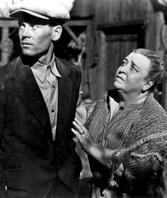 Henry Fonda & Jane Darwell in THE GRAPES OF WRATH directed by John Ford) ~ impoverished peasants struggle to find a home and work, in order to live & keep the family together ~ The Dust Bowl, during the Great Depression.