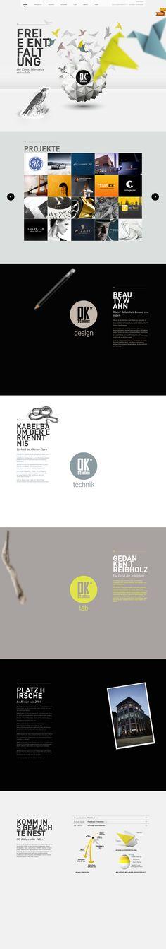 Home - OK-Studios - Corporate Design & Brand Creation  http://www.ok-studios.de/home/  #parallax #scrolling