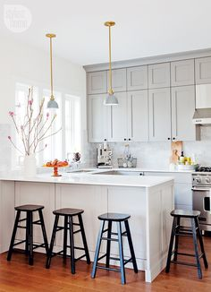 love this small gray kitchen cabinets just photo) ... ...