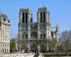 Notre Dame, Paris - Built in 12 - 14th centuries for the poor. Each picture in the stained glass and outside design tells story from the Bible.
