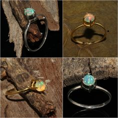 Ethiopian Opal Ring , Skinny Opal Ring , October Birthstone Ring , Silver Opal Ring , Natural Opal Ring, All Size ! Sale !
