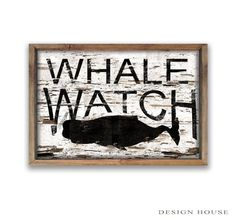 Whale watch wooden sign whale signs Nautical signs beach house sign beach house decor Nautical decor Nautical wooden signs whale wooden sign