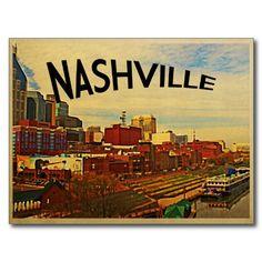 Nashville Tennessee Skyline Postcards