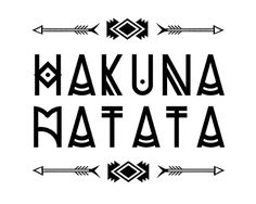 Rustic decor HAKUNA MATATA tribal arrow print by TypeSecret