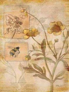 Cuadro Flora Bumble Bee