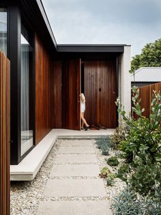 Hampden Road House by Archier - Project Feature - The Local Project - The Local Project Traditional Artwork, Front Entrances, Concrete Wall, The Locals, Interior Architecture, Residential Architecture, Facade, Cottage, Exterior