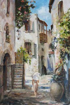 On A Walk Canvas Print / Canvas Art by Tigran Ghulyan Great Paintings, Beautiful Paintings, Landscape Paintings, French Paintings, Canvas Art, Canvas Prints, Art Prints, Acrylic Art, Portrait Art