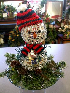 Disco ball snowman/ Funny reminds me of the Christmas 2015, Country Christmas, Christmas Snowman, Christmas Humor, Christmas Ornaments, Teal Christmas, Family Christmas, Christmas Stuff, Christmas Ideas