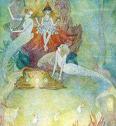 vintage fairies | seafairies:Vintage Mermaid Illustration—At Leisure (by finsbry)