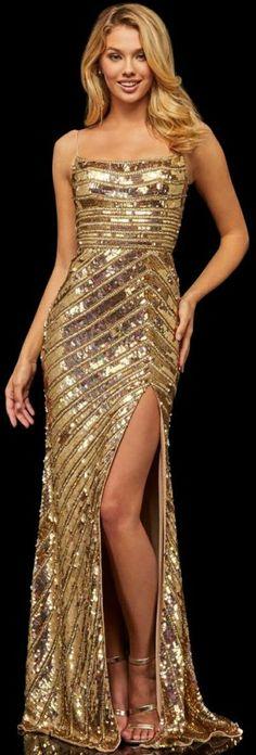 Sherri Hill Prom Dresses, Pageant Dresses, Evening Dresses, Gold Evening Gowns, Oscar Dresses, Long Cocktail Dress, Sophisticated Dress, Buy Dress, Ysl