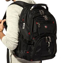 "Men's  Rucksack Notebook 15.6"" Laptop Backpack Shoulder Hiking Travel School Bag #Unbranded #MessengerShoulderBagOutdoorbagSchoolbag"